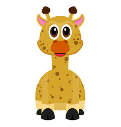 isolated cute giraffe vector image