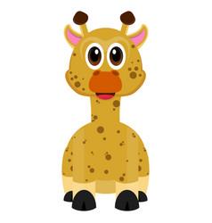 isolated cute giraffe vector image vector image
