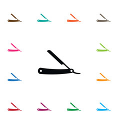 Isolated razor icon straight element can vector