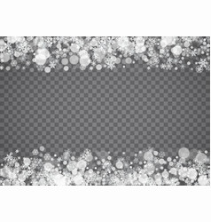 isolated snowflakes on transparent grey background vector image