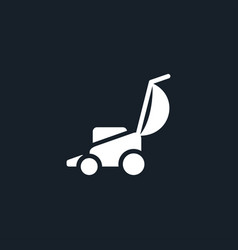 Lawnmower icon simple vector
