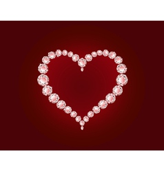 luxury diamond heart vector image