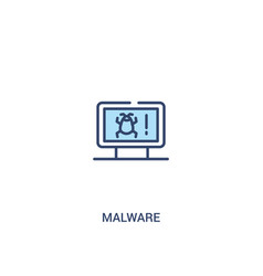 Malware concept 2 colored icon simple line vector