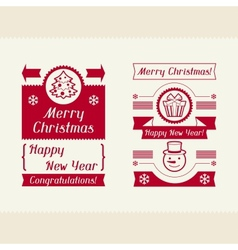 Merry Christmas invitation typographic design vector