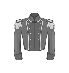 Military jacket of guards icon monochrome style vector