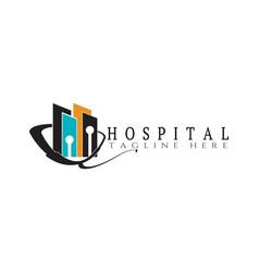 Modern hospital logo design vector