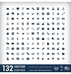 Modern user interface flat mono icons pixels vector