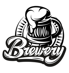 monochrome with beer mug and vector image