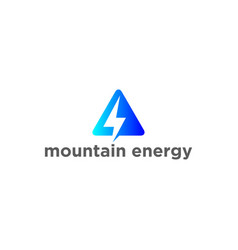 mountain and thunderbolt logo vector image