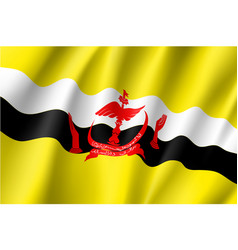 National flag of brunei vector