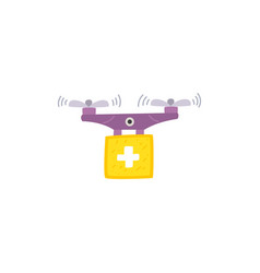 New technologies drone for medical purposes vector