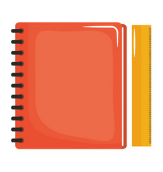 Notebook school supply with rule vector