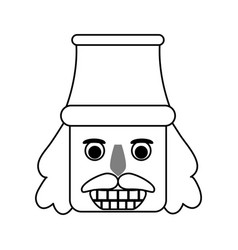 Nutcracker figurine icon image vector