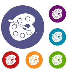 Palette icons set vector