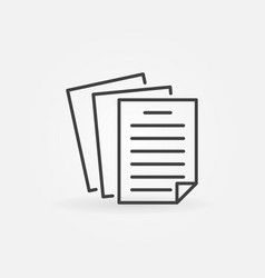 paper or document concept icon in thin line vector image