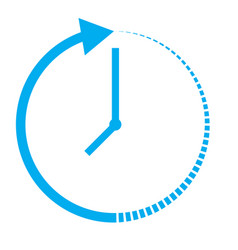 passage of time icon on white background passage vector image
