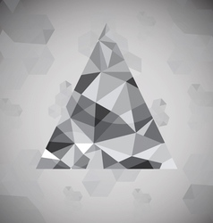 Polygonal triangle background vector image