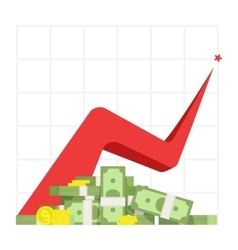 Profit increase vector image