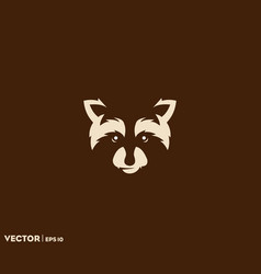 raccoon face vector image