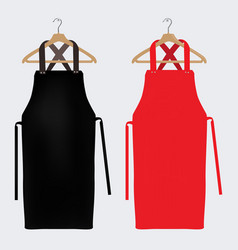 Red and black aprons apron mockup clean apron vector