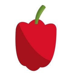 Red bell pepper icon vector
