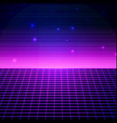 retro sci fi background vector image
