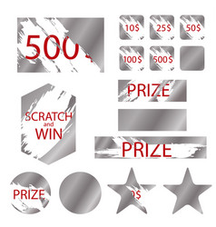 scratch games cards with effects scrape vector image