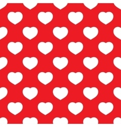 Seamless heart red vector
