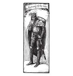 sir richard o lea vintage vector image