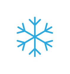 Snowflake icon blue silhouette snow flake sign vector