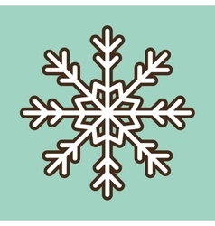 Snowflake merry christmas design vector
