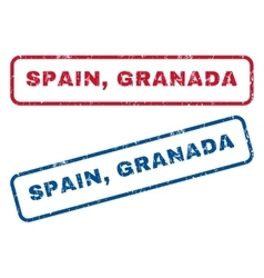 Spain Granada Rubber Stamps vector image