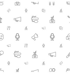 Speech icons pattern seamless white background vector