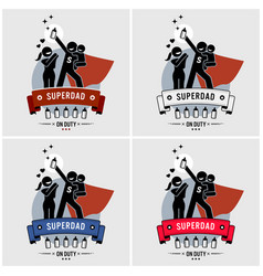 super daddy or superdad logo design vector image