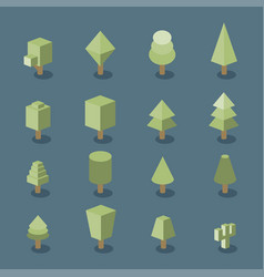 Trees set isometric vector