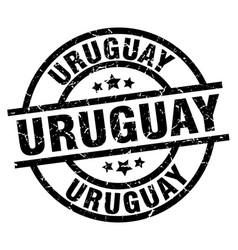 Uruguay black round grunge stamp vector