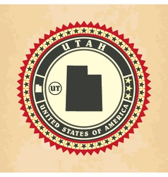 Vintage label-sticker cards of Utah vector