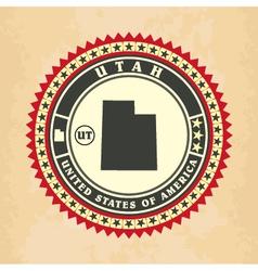 Vintage label-sticker cards utah vector