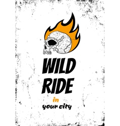 Wild ride black vector image