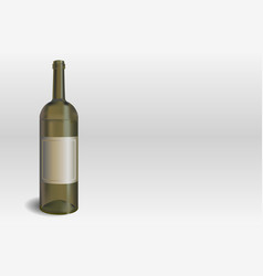 wine bottle on the gray background vector image
