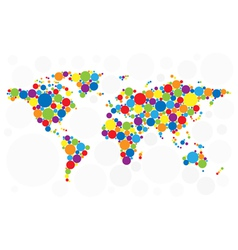 World map of colorful bubbles vector image