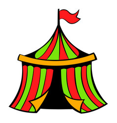 Circus tent icon icon cartoon vector