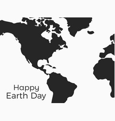 happy earth day continents of planet earth on a vector image vector image