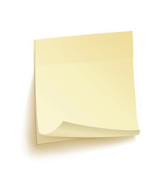 paper work notes isolated sticky note vector image