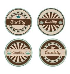 Quality retro labels vector image
