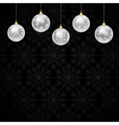 Christmas baubles vector image vector image