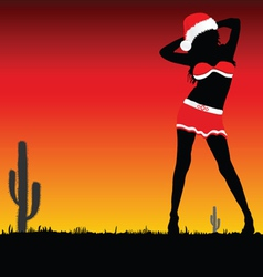 girl with christmas hat part two vector image