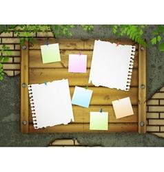 message board vector image