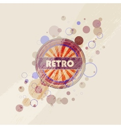 Abstract creative retro labels background vector image