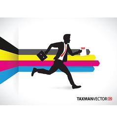 cmyk side business runner vector image